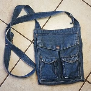 Navigation Denim Crossbody Bag for sale